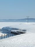 Invierno y lago Imagen de archivo libre de regalías