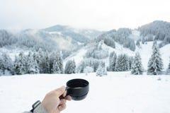 Invierno y té Fotos de archivo libres de regalías
