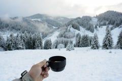 Invierno y té Imagen de archivo libre de regalías