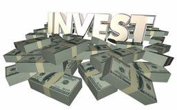 Invierta crecen ganancias de la renta de dinero de la riqueza consiguen rico Fotografía de archivo libre de regalías
