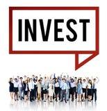 Invierta el concepto del márketing financiero de la economía de la inversión foto de archivo