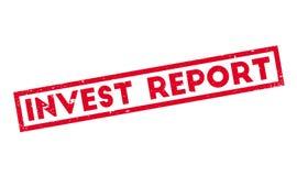 Invierta el sello de goma del informe Imágenes de archivo libres de regalías