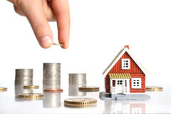 Invierta en concepto de las propiedades inmobiliarias. Imagen de archivo