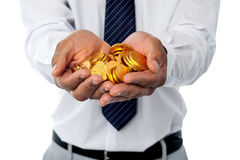 Invierta en oro. Duplicación de su dinero. imagen de archivo libre de regalías