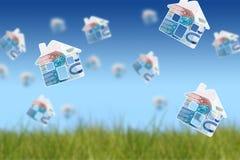Invierta en propiedades inmobiliarias ilustración del vector