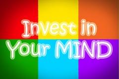 Invierta en su mente Concent imagen de archivo libre de regalías