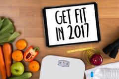 Invierta en su salud, concepto sano de la forma de vida con dieta y Foto de archivo