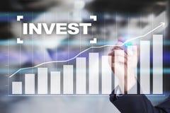 Invierta la rentabilidad de la inversión Conceptual financiero Image Concepto de la tecnología y del negocio Foto de archivo
