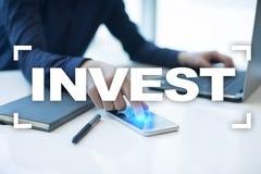 Invierta la rentabilidad de la inversión Conceptual financiero Image Concepto de la tecnología y del negocio Foto de archivo libre de regalías