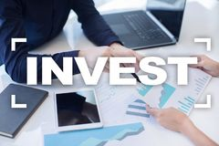 Invierta la rentabilidad de la inversión Conceptual financiero Image Concepto de la tecnología y del negocio Imagen de archivo