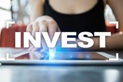 Invierta la rentabilidad de la inversión Conceptual financiero Image Concepto de la tecnología y del negocio imagen de archivo libre de regalías