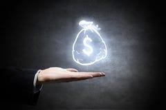 Invierta su derecha del dinero imagen de archivo