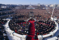 Invigning av presidenten av United States Arkivfoto