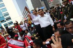 Invigning av presidenten och vicepresidentet av Indonesien Joko Widodo och Jusuf Kalla Arkivbild
