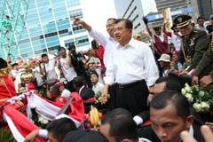 Invigning av presidenten och vicepresidentet av Indonesien Joko Widodo och Jusuf Kalla Royaltyfri Bild