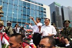Invigning av presidenten och vicepresidentet av Indonesien Joko Widodo och Jusuf Kalla Arkivfoto