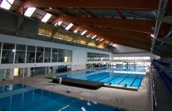 Invigningsdagen av multisports centrerar i Majorca den breda sikten royaltyfri foto