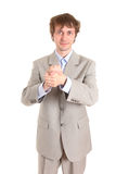 Invigorated businessman Stock Photos