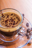 Invigorating coffee  crema Stock Images