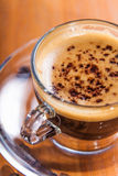 Invigorating coffee with crema Stock Photo