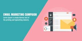 Invii con la posta elettronica la campagna, la vendita digitale, la sottoscrizione del bollettino, l'affare, concetto di pubblici Immagini Stock