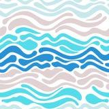 Invination kort med vågor Arkivfoton