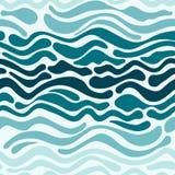 Invination kort med vågor Fotografering för Bildbyråer
