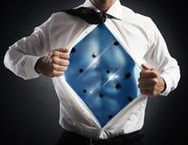 Invincible businessman stock images