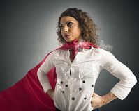 Invincible businesswoman Royalty Free Stock Photo