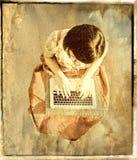 Invio con la posta elettronica di angelo fotografia stock libera da diritti