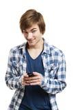 Invio dei messaggi di testo Immagine Stock