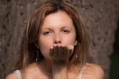 Invio del bacio Fotografia Stock