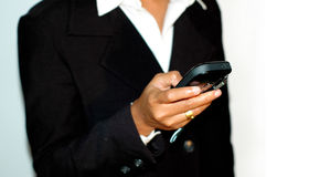 Invio dello SMS Immagini Stock