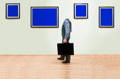 Invisible art collector Stock Photography