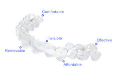 Invisible braces stock image