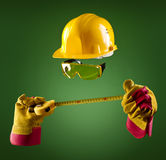 Invisible builder — tape measure Royalty Free Stock Image