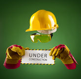 Invisible builder — under construction Stock Photography