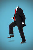 Invisible Business man. Invisible man in formal suit with no body. Clipping path included. Concept, vertical Royalty Free Stock Image