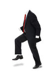 Invisible Businessman. Invisible man in formal suit with no body over white. Clipping path included. Concept, vertical Royalty Free Stock Photography