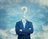 The invisible businessman stock images