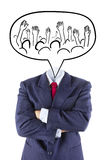 Invisible businessman talk about teamwork Royalty Free Stock Photos