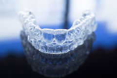 Invisible dental teeth brackets aligners braces retainers royalty free stock images