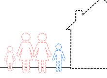 Invisible family 2. An illustration of an invisible family Stock Image