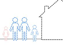 Invisible family 3. An illustration of an invisible family Stock Photography