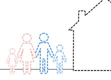 Invisible family. An illustration of an invisible family Royalty Free Stock Photo