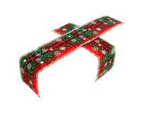 Invisible gift. Christmas ribbon on an invisible box, isolated Royalty Free Stock Images