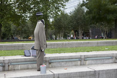 Invisible man, an actor on the South Bank of the Thames Royalty Free Stock Images