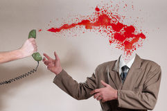 Invisible man and blood Royalty Free Stock Photo