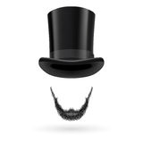 Invisible man in top hat. Invisible man with Lincoln beard wearing top hat Stock Photo