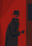 Invisible Man. Vector illustration of mystery and invisible man Royalty Free Stock Photos